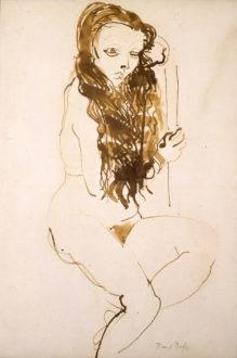 Femme Nue Asise