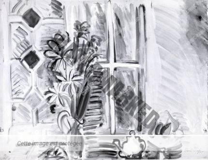 Bouquet De Fleurs Devant La Fenêtre