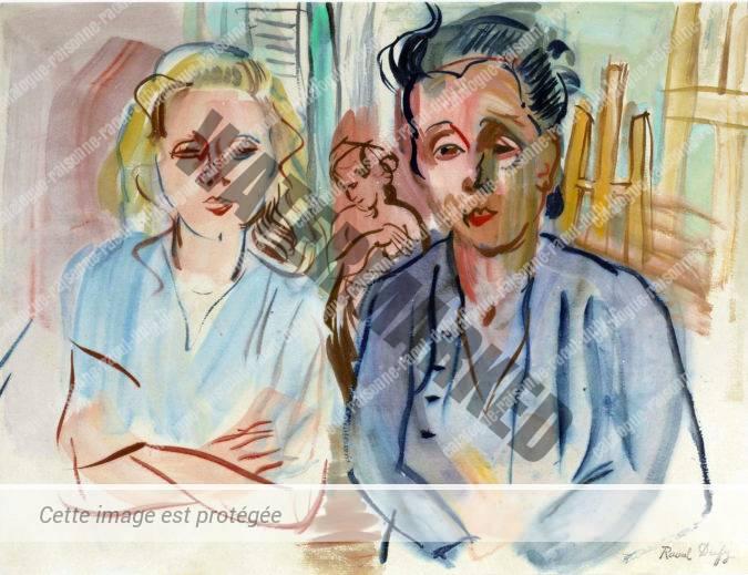 Berthe Reysz Et Colette Nicolau Dans L'atelier De Perpignan