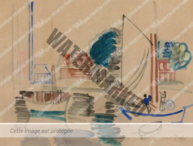 Bateaux Dans Le Port De Deauville-Trouville