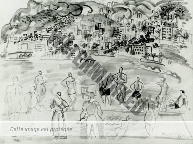 Baigneurs à Monte-Carlo