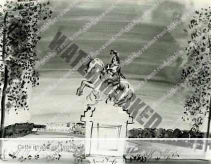 Statue Equestre De Louis XIV Par Le Bernin Dans Le Parc