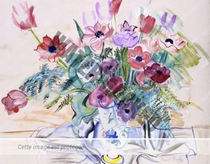Bouquet D'anémones Et Tulipes