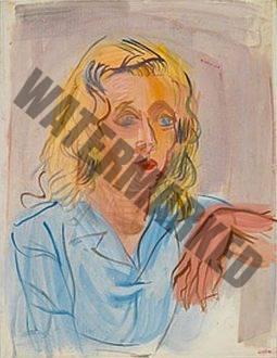 Portrait De Femme Aux Cheveux Défaits - Colette Nicolau