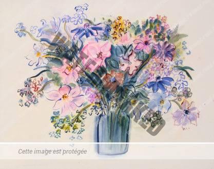 Bouquet Composé D'anémones Roses