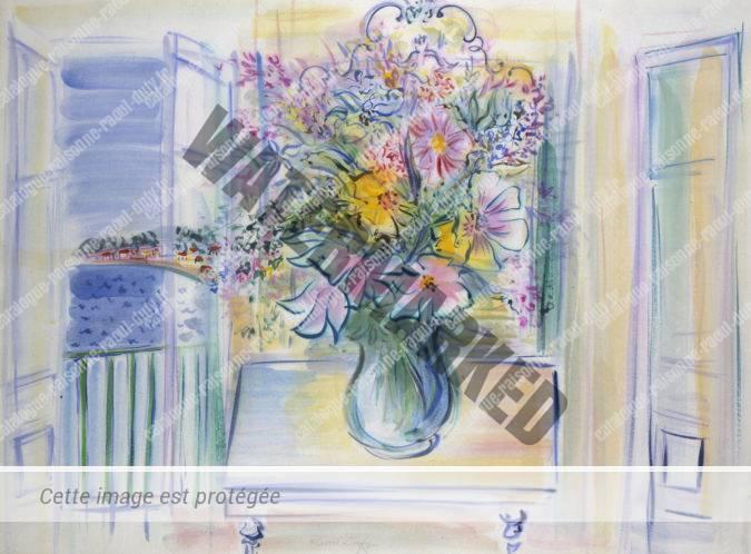 Bouquet De Fleurs Devant La Fenêtre à Nice
