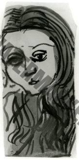 Portrait De Femme Aux Longs Cheveux