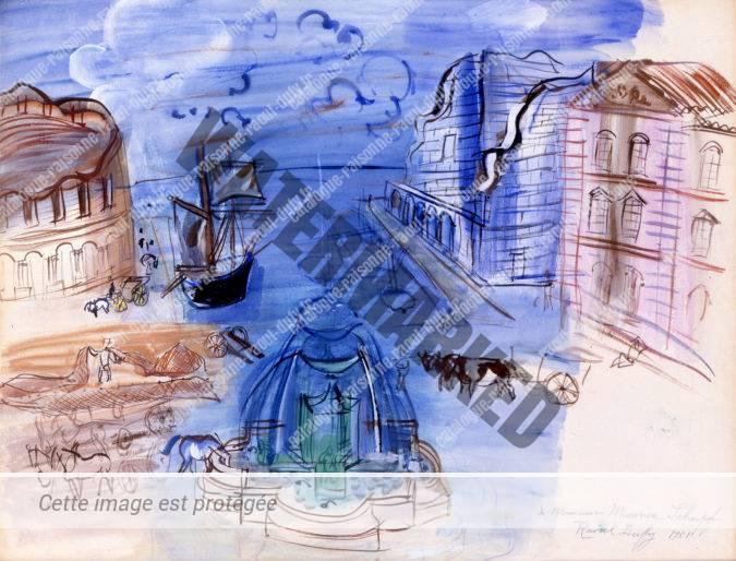 Composition Au Port Et à La Fontaine
