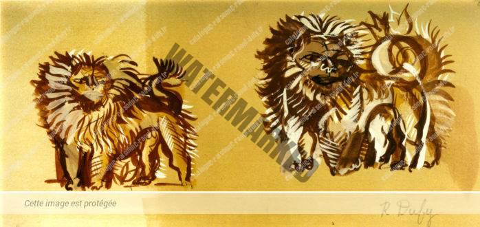 Étude De Lions Pour Tartarin De Tarascon
