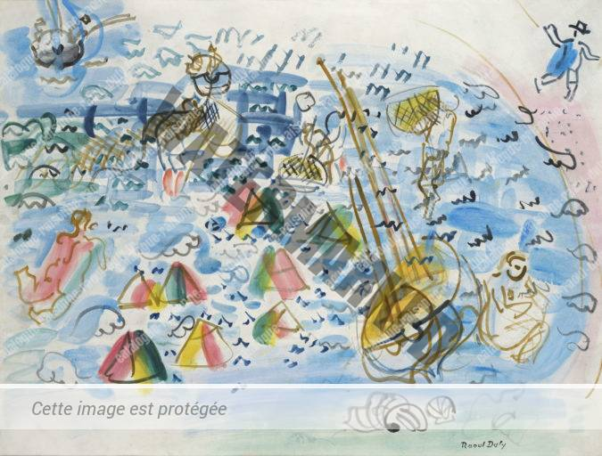 Baigneuses Et Pêcheurs à Sainte-Adresse