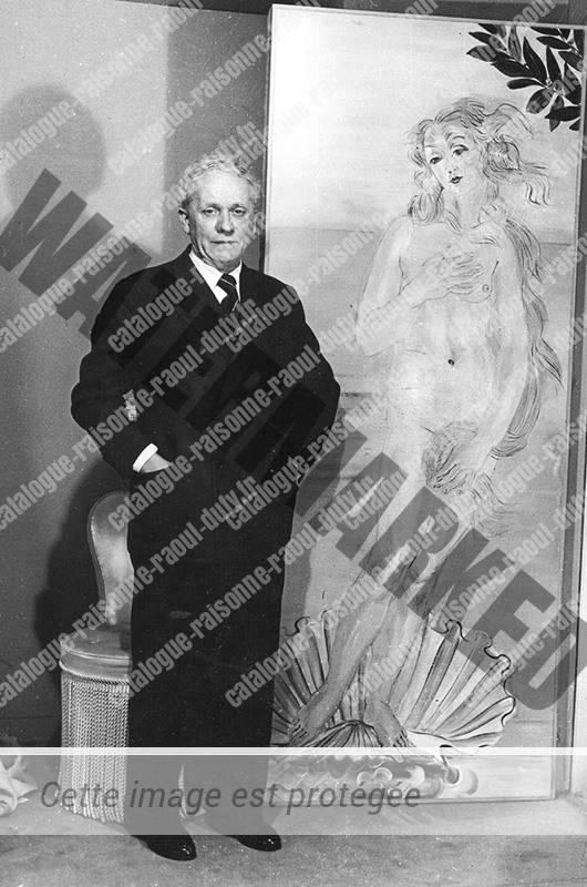 Raoul Dufy devant la Venus de Botticelli (1938)