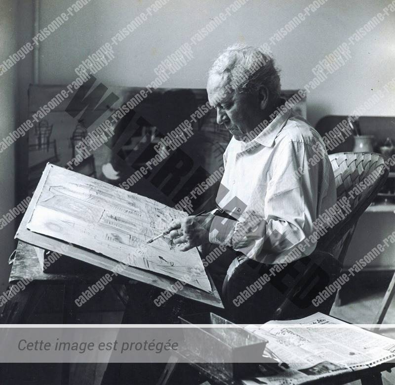 Raoul Dufy faisant une aquarelle