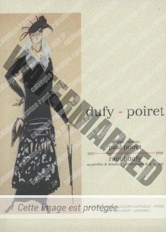 """Catalogue D'exposition """"dufy - Poiret"""""""